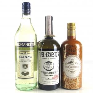 Miscellaneous Vermouth Selection 70cl, 75cl & 1 Litre