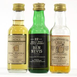 Highland Miniature 3 x 5cl / Including Ben Nevis 22 Year Old