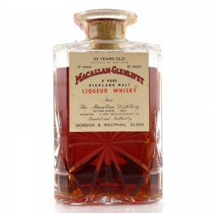 Macallan 33 Year Old Gordon and MacPhail Decanter 1970s / Co. Pinerolo Import