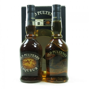Old Pulteney 12 Year Old and Liqueur Gift Pack 2 x 50cl
