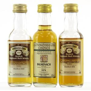 Speyside Miniature Selection 3 x 5cl / Including Craigellachie 1971