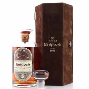 Mortlach 1936 Gordon and MacPhail 50 Year Old Decanter / Book of Kells