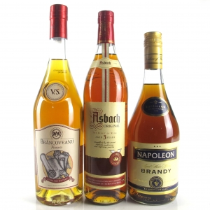 Miscellaneous Brandy Selection 3 x 70cl