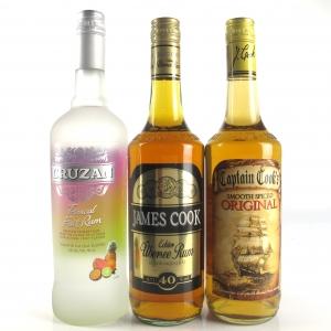 Miscellaneous Rum Selection 2 x 70cl & 1 x 75cl
