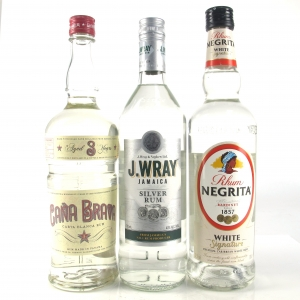 Caribbean White Rum Selection x 3