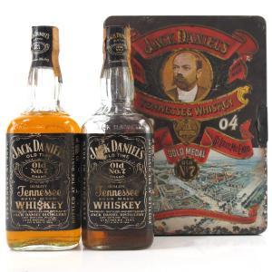 Jack Daniel's Old No.7 Replica Antique Tin 2 x 70cl