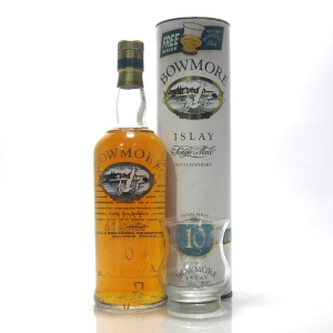 Bowmore 10 Year Old Screen Print 1990s / with Glass