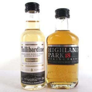 Tullibardine 5cl and Highland Park 18 Year Old 5cl