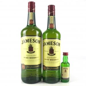 Jameson Irish Whiskey 1 Litre, 70cl & Miniature 5cl