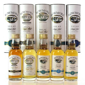 Bowmore Miniature Selection 1990s / 5 x 5cl