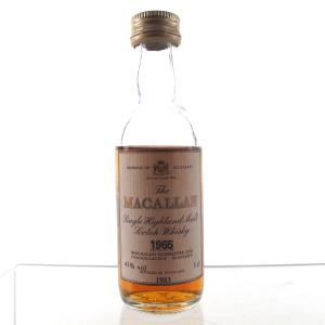 Macallan 18 Year Old 1965 Miniature 5cl