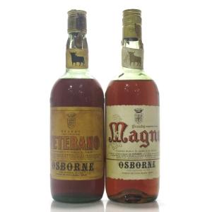Osborne Spanish Brandy 1970s x 2