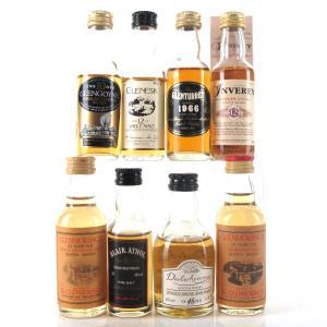 Highland Single Malt Miniatures x 8 / includes Glenesk 12 Year Old