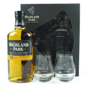 Highland Park 12 Year Old Gift Pack / Including two branded glasses