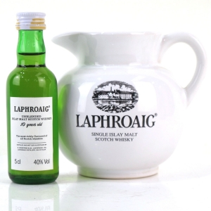 Laphroaig 10 Year Old Miniature 5cl 1980s / Includes Water Jug