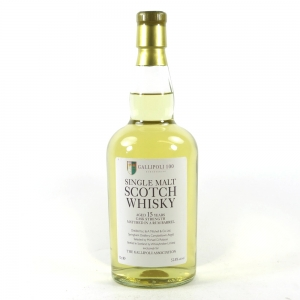 Springbank 15 Year Old Rum Cask Whisky Broker / Gallipoli Association