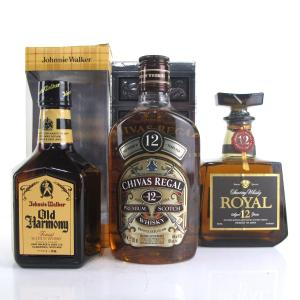 Miscellaneous Half Bottle Whisky Selection x 3 / includes Johnnie Walker Old Harmony
