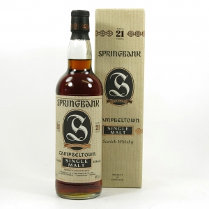 Springbank 21 Year Old 1990s Front