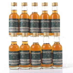 Glendronach 15 Year Old Revival 10 x 5cl Miniature