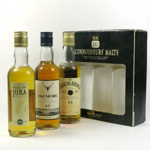 Whyte and Mackay Connoisseur's Malts (Jura, Dalmore and Bruichladdich) front