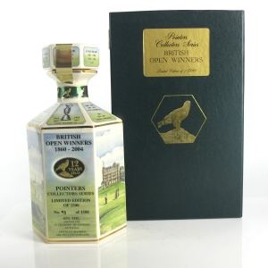 Pointers 12 Year Old Collectors Series Decanter / British Open Winners 1860-2004