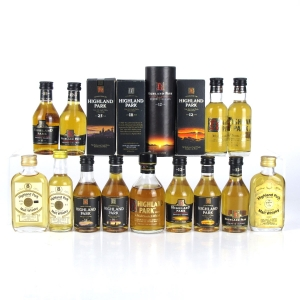 Highland Park Miniature Selection x 13 / including 25 Year Old