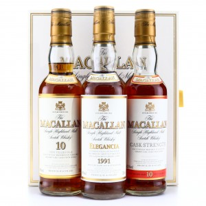 Macallan Travellers Choice 3 x 33.3cl / Macallan Travellers Choice 3 x 33.3cl/ Including Cask Strength 10 Year Old 58.5%