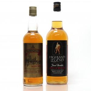 Highland Legend& Ubique Blended Scotch Whisky75cl & 1 Liter