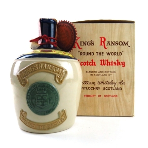 King's Ransom 'Round The World' 12 Year Old Scotch Whisky Decanter 1970s
