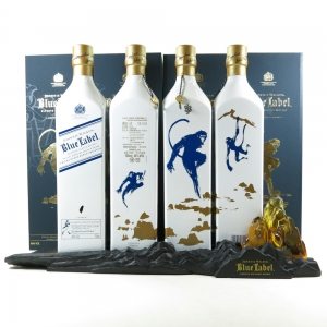 Johnnie Walker Blue Label Year of the Monkey Taiwan 4 x 75cl / Including Display Stand