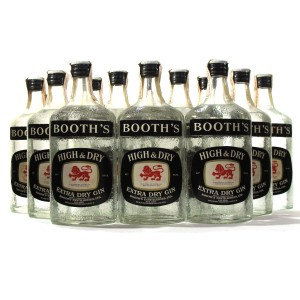 Booth's High & Dry Extra Dry Gin 12 x 75cl 1970s / Case
