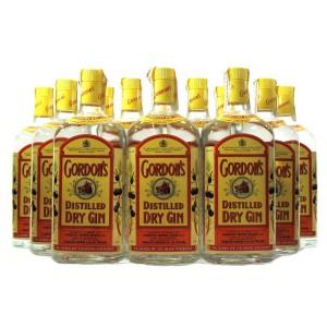 Gordon's London Dry Gin 1980s / 12 x 1 Litre