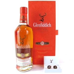Glenfiddich 21 Year Old Reserva Rum Finish / includes Cufflinks
