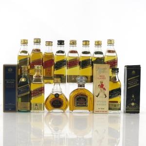 Johnnie Walker Miniature Selection x 13