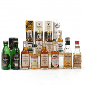 Single Malt Minature Selection 12 x 5cl / Including Glenfarclas 25 Year Old