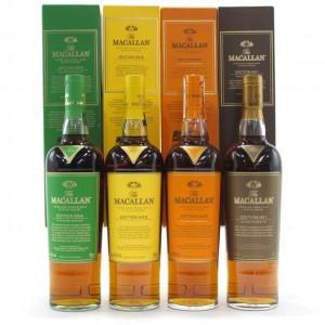 Macallan Edition No.1-4 Collection 4 x 70cl
