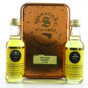 Signatory Vintage Speyside Sherry Cask Gift Set 2 x 5cl / Linkwood and Mortlach