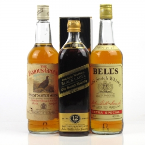 Miscellaneous Blended Scotch Selection 1980s 3 x 75cl