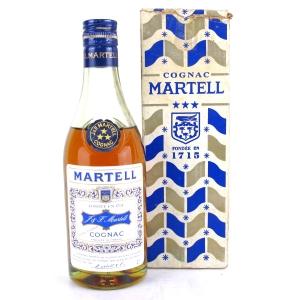 Martell Cognac Three Stars Half Bottle Circa 1970s