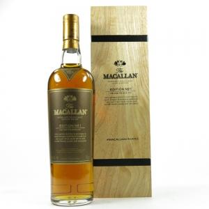 Macallan Edition No 1 / Wooden Presentation Box