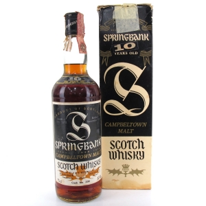 Springbank 1972 10 Year Old / Italian Import