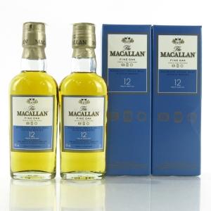 Macallan 12 Year Old Fine Oak Minature 2 x 5cl