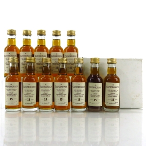 Glendronach 15 Year Old 1990s Sherry Wood Miniatures 12 x 5cl