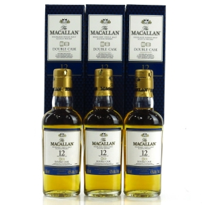 Macallan 12 Year Old Double Cask Miniature 3 x 5cl / US Import