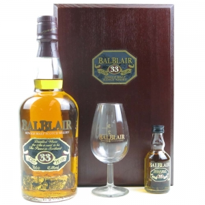 Balblair 33 Year Old With Nosing Glass and Miniature