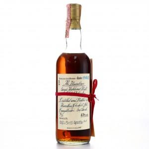 Macallan 1940 Handwritten Label / Rinaldi Import