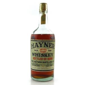 Hayner Private Stock 1914 Bottled in Bond Quart / Prohibition Era Bottling