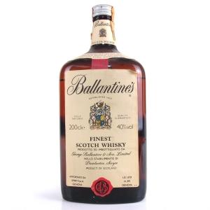 Ballantine's Finest Scotch Whisky 2 Litre 1980s / Italian Import