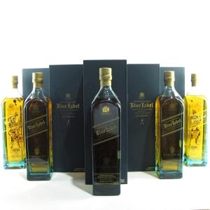 Johnnie Walker Blue Label Gods of Wealth Collection 5 x 1 Litre