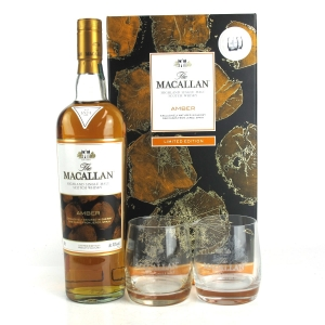 Macallan Amber Limited Edition Gift Pack / Including Jug & Glass